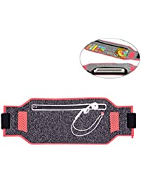 COOFIT Sports Waist Bag Ultra Thin Lightweight Lycra Running Belt Waist Pack Bag