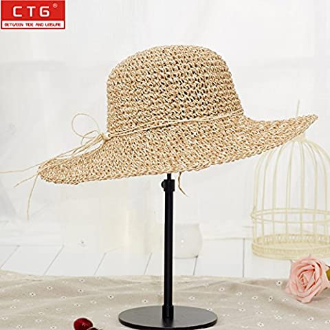 Korean Children Cap Ms. Leisure Visor The collapsible Hats The straw hat Beach Cap Maximum along the cap
