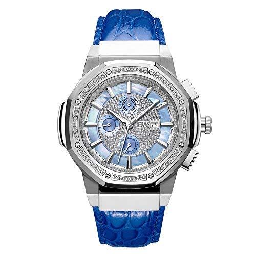 JBW JB-6101L-10B - Reloj de pulsera para hombre de 10 años con diamantes de 0,16 quilates y acero inoxidable
