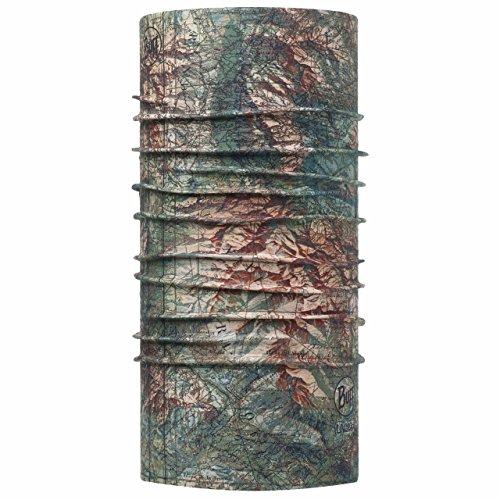 Buff - Fascia scaldacollo, alta protezione dai raggi UV, unisex, Land, Green/Turquoise/Brown, Taglia unica