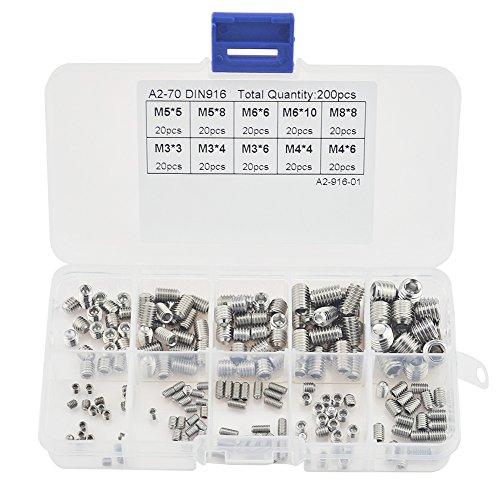 asiv-200pcs-m3-m4-m5-m6-m8-hex-grub-screw-head-nuts-thread-cup-point-stainless-steel-assortment-fast