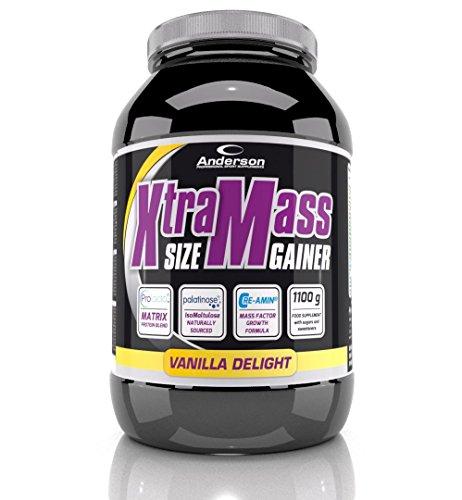 Integratore Xtra Mass Gainer 1,1 Kg (gusto Chocolate twist) con nuova formula di Proteine, Carboidrati, Vitamine, Minerali, Creatina, Bcaa, Mct, Glutammina, Arginina, Taurina, Tribulus