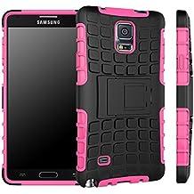 Samsung Galaxy Note 4 Funda, Dokpav® Dura Rigida Ultrafina Casco Funda Cascara con soporte para Samsung Galaxy Note 4 - Rosa