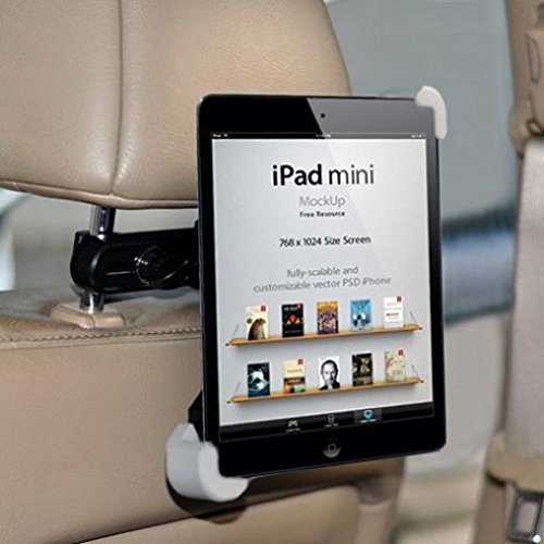 NISMobile Premium Car Headrest Mount Tablet Holder Swivel Cradle Back Seat Entertainment Dock Black for Samsung Galaxy Tab S2 9.7 Samsung Galaxy Tab S2 NOOK 8.0 (SM T710)