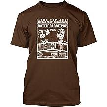 BATTLE OF BRITPOP - Blur vs Oasis T-shirt, Herren