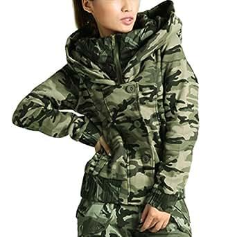tangda jacket manteau camo blouson femme camouflage hiver coton chaud loisir militaire veste. Black Bedroom Furniture Sets. Home Design Ideas