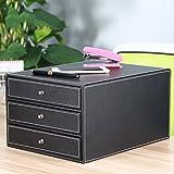 XBR bureau Armoires _ PU cuir affaires financiers du Desktop tiroir Bill créatif cabinets Black Ago