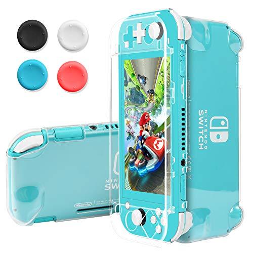 Pakesi Schutzhülle für Nintendo Switch Lite, kompatibel mit Nintendo Switch Lite, inkl. Displayschutzfolie aus gehärtetem Glas, ultradünn, tragbar