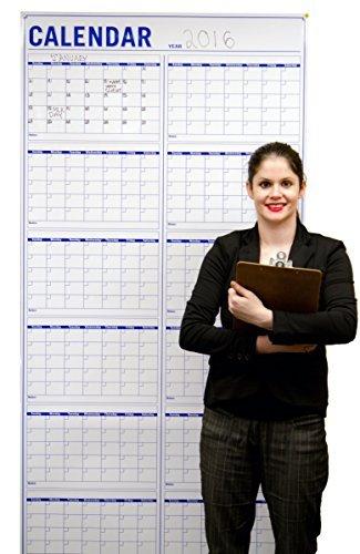 Large Dry Erase Wall Calendar - Jumbo Wet Erase Laminated 12 Month Planning  Calendar - Calendars 491ef57d8