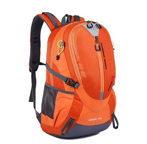 LQABW Freizeit Mode Wasserdicht Oxford Tuch Polyester Leichtes Wandern Berg Durable Rucksack Tasche Orange