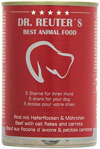 Dr. Reuter's Hundefutter Rind mit Haferflocken und Möhrchen, 6er Pack (6 x 400 g)