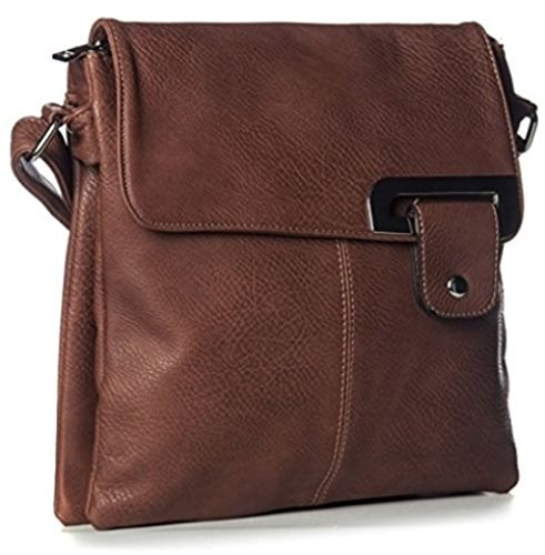 Other, Borsa a tracolla donna Multicolore Multicolor medium Dark Brown