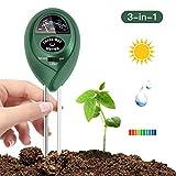 FYLINA 3-in-1 Bodentester, Boden ph messgerät für Pflanzen, Licht und pH / Säure, Gartengeräte für Haus und Garten, Rasen, Bauernhof, Pflanzen, Indoor & Outdoor pH Meter (keine Batterie erforderlich)