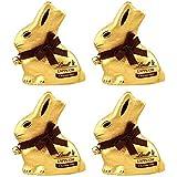 Lindt Grand Lapin Or au chocolat noir pour Pâques 200 g - Lot de 4