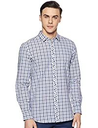 Amazon Brand - Symbol Men's Checkered Regular Fit Casual Shirt