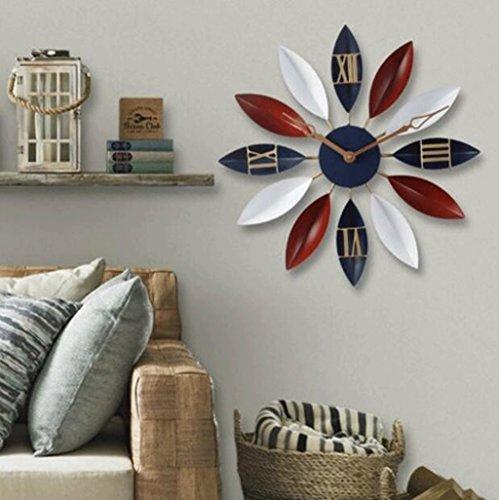 RXL-Zeit der Wand Persönlichkeit Wanduhr Wohnzimmer Moderne Einfache Kreative Kunst Retro Hause Schlafzimmer Hängetisch (Farbe : C) - Grau-wand-kunst Teal