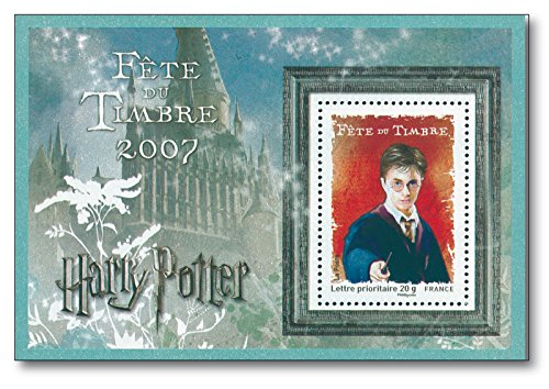 Harry Potter   Briefmarken-Block  Frankreich  20g  Hauptfigur der Romanserie  Joanne K. Rowling  Zauberinternat Hogwarts  Lord Voldemort (Harry-potter-briefmarken)