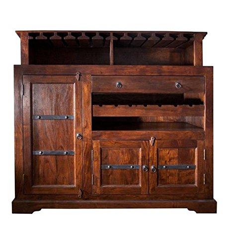 MASSIVMOEBEL24.DE Kolonialmöbel Bar Akazie Holz massiv Oxford #903