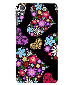 Citydreamz Colorful Floral Hearts/Love/Valentine Hard Polycarbonate Designer Back Case Cover For HTC Desire 628/ HTC Desire 628 Dual Sim