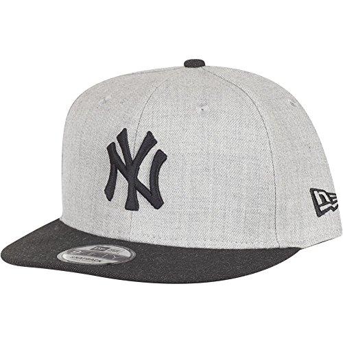 new-era-contrast-heather-9fifty-snapback-cap-ny-yankees-grau-schwarz-sizes-m