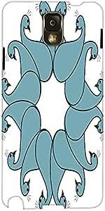 Snoogg Flourish Bird Faces Designer Protective Back Case Cover For Samsung Ga...