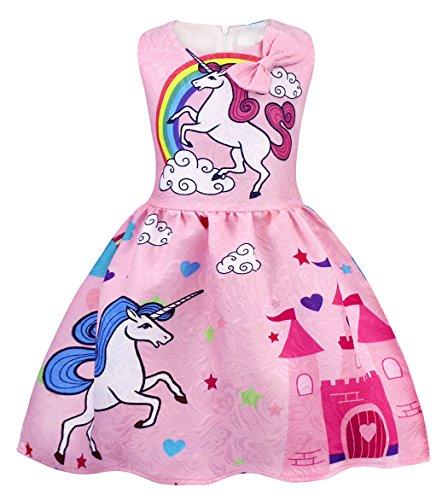 inhorn dress up ärmellose Prinzessin Kleider für Kinder Party Kostüm 5-6 Jahre (Halloween Dress Up Für Mädchen)