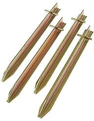 10T Zelthering PEG IT 4T20 30SV Stahl T-Profil Hering, 30cm Zeltnagel, Zeltpflock, Erdnagel, Erdanker im Set mit 4 Stück