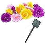12LED Lampes solaires Daisy Jardin Extérieur Chemins les patios, Pack of 1