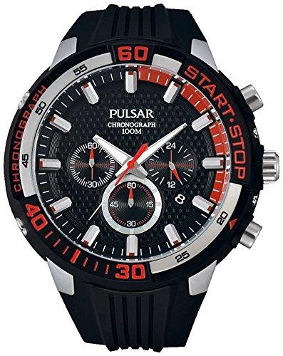 Pulsar Herren Chronograph Kautschuk-Armband PT3697X1 (Pulsar-kautschuk-armband-uhr)