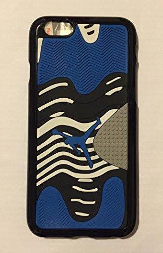 NEW Air Jordan Coque souple pour Apple iPhone 5/5C/5S/6& 6S Chaussures en caoutchouc Semelle gaufrée 3D cas, Caoutchouc, BLUE & GRAY, Apple iPhone 5/5s