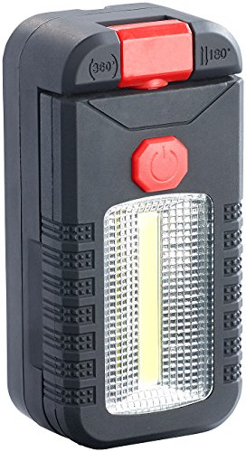 Lunartec Arbeits Batterieleuchte: Kabellose Arbeitsleuchte mit COB-LED und 4 LEDs, 2 W, 165 lm,...