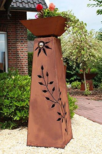 Jabo Design Rost Säule konisch + Schale RS72+S11 XL Säule Blumen Deko Garten Rostsäule + Rostschale