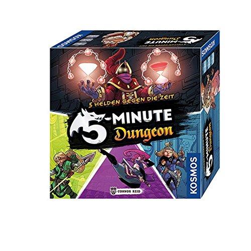 Kosmos 692889 - 5-Minute Dungeon - Wahre Helden gegen die Zeit. Temporeiches Gesellschaftsspiel für Realtime Fans - 5 Min Fan