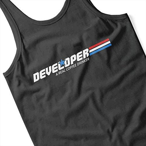 Cloud City 7 Developer A Real Coffee Drinker Women's Vest Black