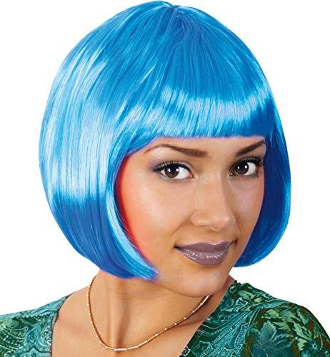 Perücke Lola neon blau ()