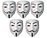 Fancy steps V for Vendetta Comic Face Mask Anonymous Guy Fawkes (White) Pack of 5 party mask