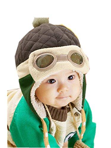 Mütze Baby Warme Hut Wintermütze Strickmützen Mädchen Schlupfmütze Mütze Beanie Ballonmütze Hüte Wintermütze Schlupfmütze Junge Mützen Haube Kapuze Mützen Hüte LMMVP (Kaffee)