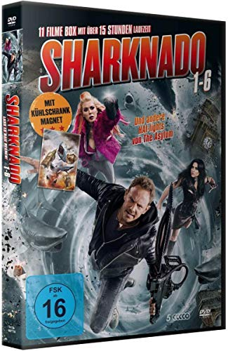 Sharknado 1-6 Deluxe Box-Edition (5 DVDs mit 11 Filmen plus Magnet)