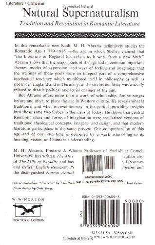 Natural Supernaturalism (Norton Library (Paperback))