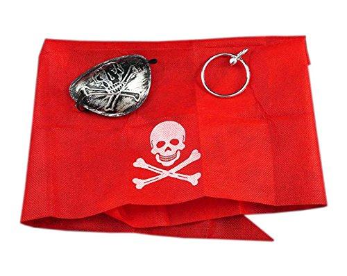 GIRM® - 8313 - Set per pirata, bandana orecchino e