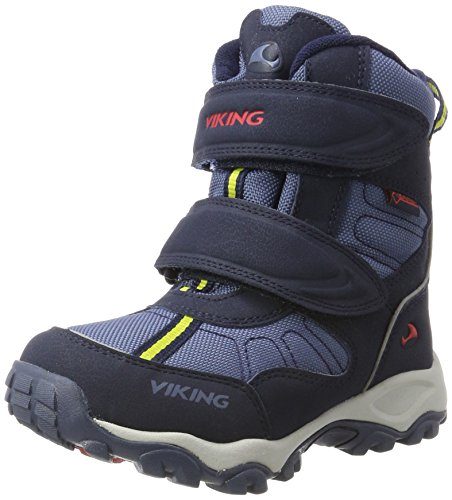 Viking Unisex-Kinder Bluster II Outdoor Fitnessschuhe, Blau (Navy/Red), 32 EU