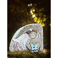 mattonella decorativa con farfalla pezzo unico