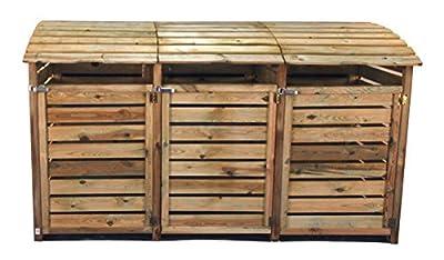 Mülltonnenbox - dreifach von meingartenversand - Du und dein Garten