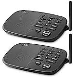 Système d'interphone sans fil Hosmart 1/2 Mile LONGUE PORTÉE Sécurité 10 canaux Système d'interphone sans fil pour la maison ou le bureau (2 unités)