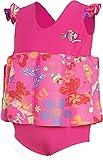 Zoggs, galleggiante per imparare a nuotare con design di fiori e sirene., ragazza, Mermaid Flower LTS Floatsuit, Pink/Multicolour, 2-3 anni