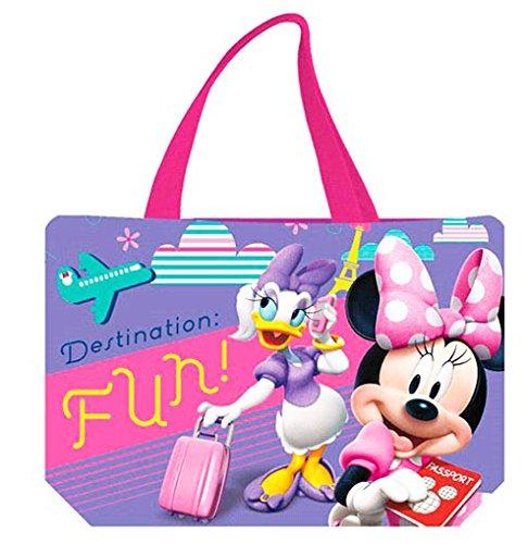 Sac de plage - Cabas enfant fille Disney Minnie et Daisy Violet 47cm