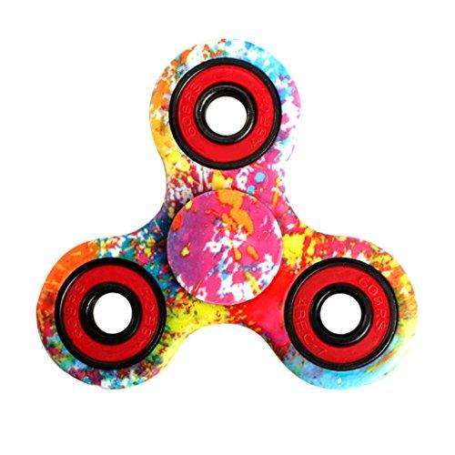 YIGA Fidget Spinner Tri Fidget Mano Dito Spinner Spin Widget Focus Giocattolo Antistress Alta Velocità Superb Acciaio Inox Cuscinetto Fidget Toy - Perfetto per Ansia bambini per adulti (3-1)
