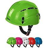 Casco de escalada casco Argalí KID Universal del Niño vías ferratas en muchos colores por Alpidex, Color:apple-green