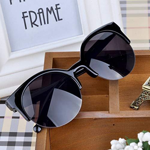 LLISA Retro Designer super runde Kreis Brille cat Eye Frauen Sonnenbrille Brille Brille,1