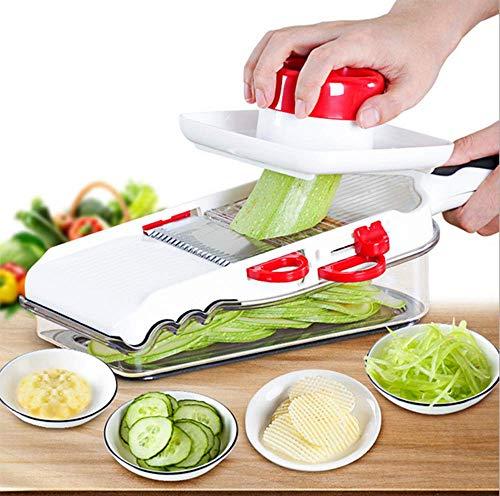 Mandoline Slicer, Gemüse & Obst Chopper Shredder Cutter Integrierter Gemüseschneider Und Slicer...